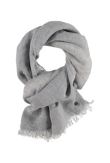 Fraas Micro Stripe Scarf Navy