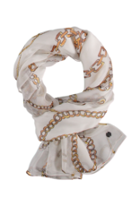Fraas 100% Silk Scarf Off White