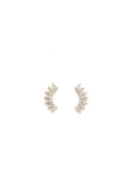 Lover's Tempo Lover's Tempo Nova Climber Earrings Gold
