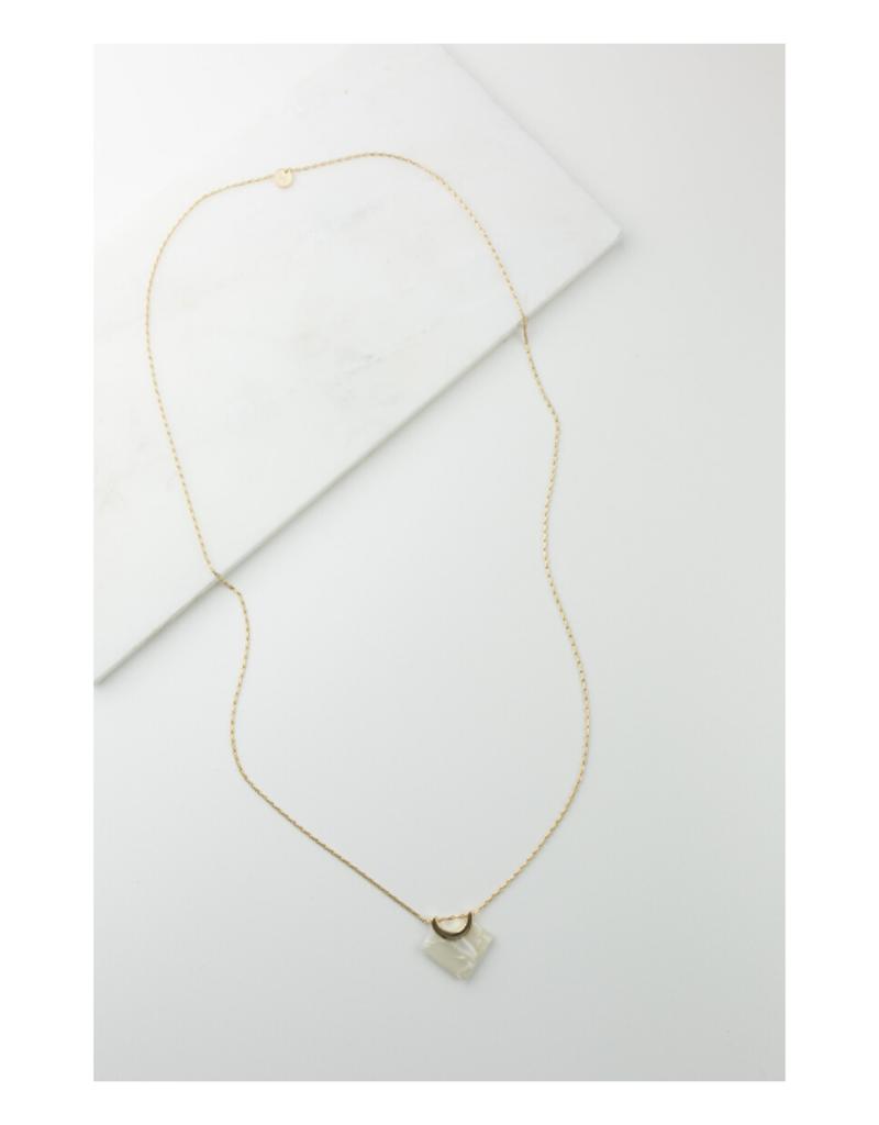 Lover's Tempo Lover's Tempo Necklace Libra Long White