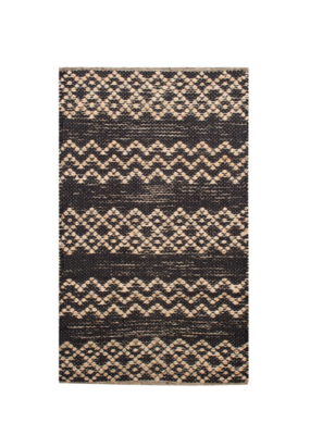 Zigzag Rug  Natural & Black