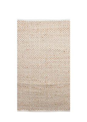Zigzag Rug  Natural & White