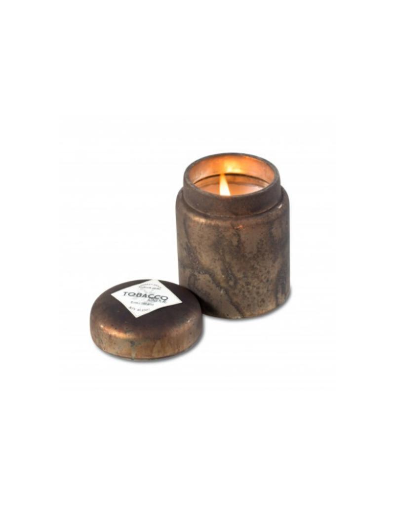 himalayan trading post Tobacco Bark Smoke Mountain Fire Glass Candle by Himalayan Handmade Candle