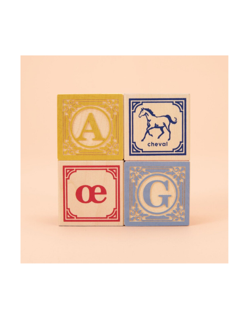 Uncle Goose Classic ABC Blocks In Wagon