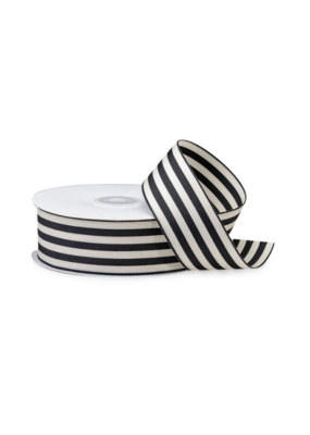 creative bag Black & White Striped Ribbon