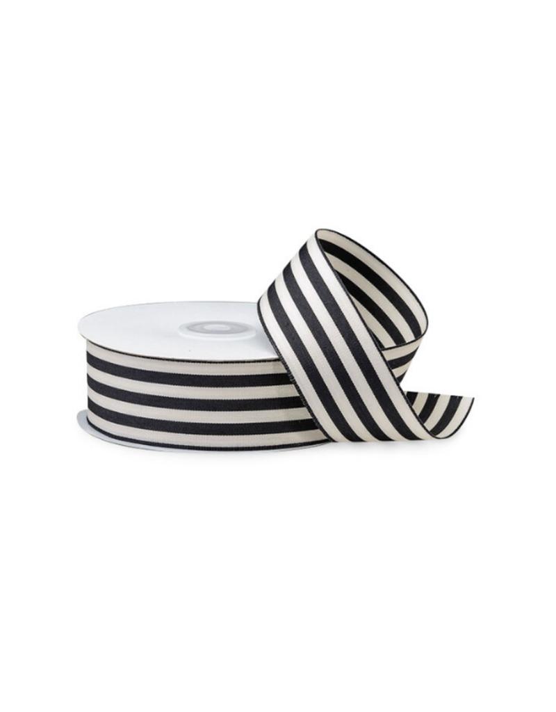 creative bag Black & White Striped Ribbon