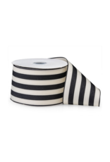 Black & White Striped Ribbon