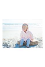 Beba Bean Crochet Knit Hoodie Pink