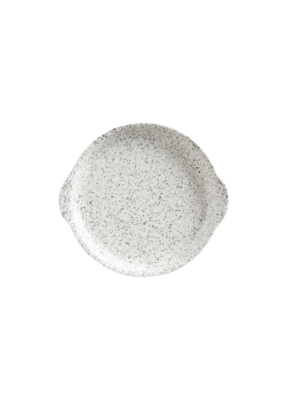 Plate with Handle Speckle 20cm