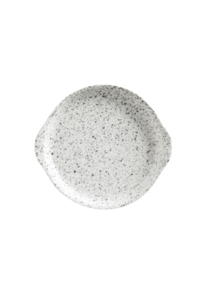 Plate with Handle Speckle 15cm
