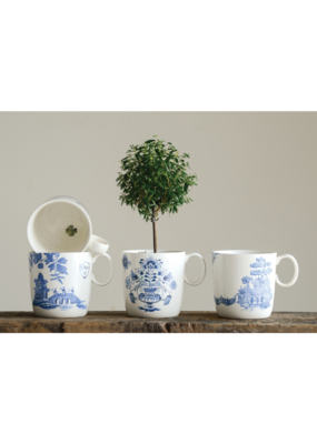 Blue and White Stoneware Mug Assorted