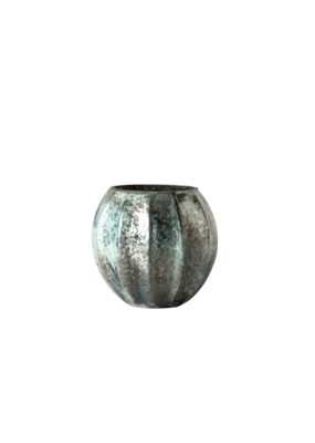 Mercury Glass Tealight Holder Antique Turquoise