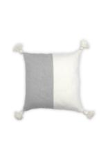 Moroccan Pom Pom Light Grey Pillow