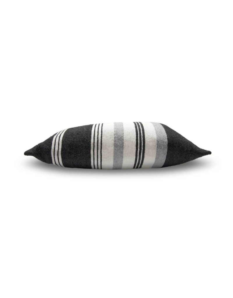 Moroccan Pom Pom Thick And Thin Pillow