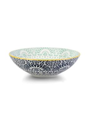 Paisley Blue Poke Bowl 21cm