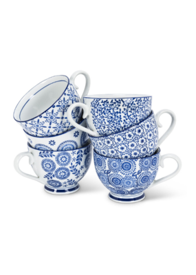Assorted Blue and White Handled Cup
