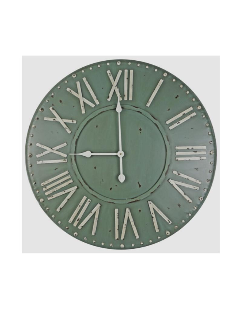 Roman Numeral Clock, Green