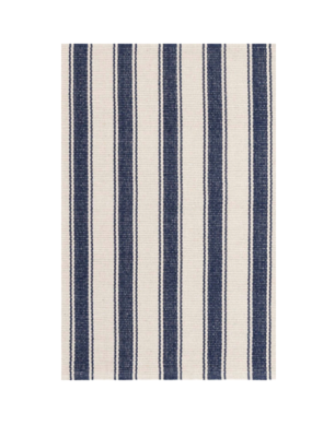 Dash & Albert DASH Cotton Rug Blue Awning Stripe