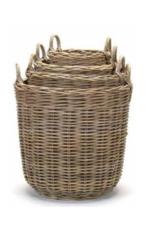 Tall Round Kubu Grey Basket