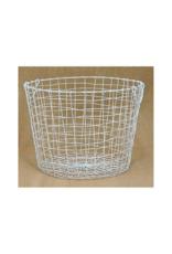 Round White Wire Basket