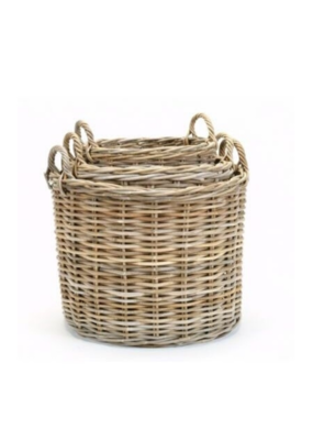 Wide Kubu Grey Basket