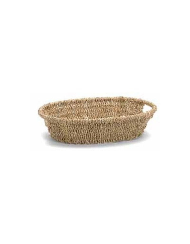 Oval Seagrass Tray Cut Out Handles