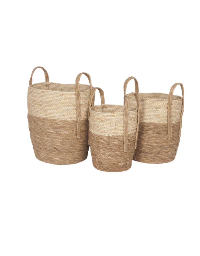 Beige/Natural Basket with Handles