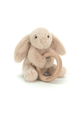 Jellycat Jellycat Bunny Wood Ring Toy