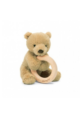 Jellycat Jellycat Bear Wood RIng Toy