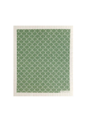 Ten & Co. Swedish Sponge Cloth Scallop Sage