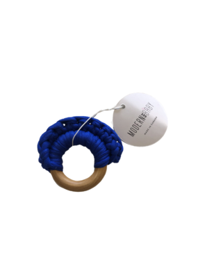 Modern Baby Cobalt Crochet Teething Toy