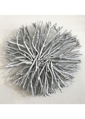 "Root Wreath White Wash 18"""