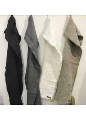 Aqua Vireo Hedvig Woven Linen Hand Towel by Aqua Vireo