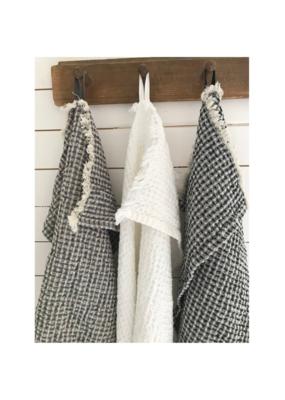 Aqua Vireo Wilma Woven Linen & Cotton Hand Towel by Aqua Vireo