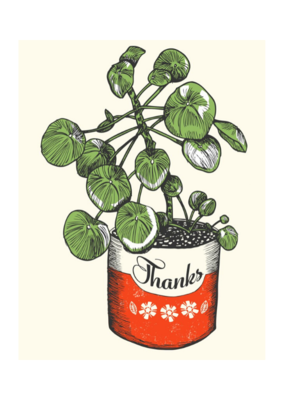 The Good Days Print Co. Potted Thank You Card