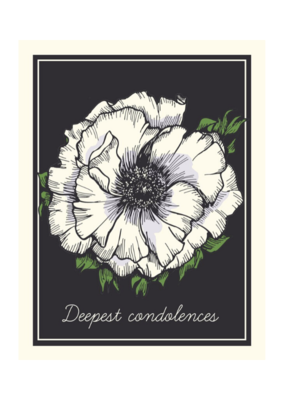 The Good Days Print Co. Deepest Condolences Card