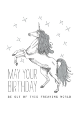 The Good Days Print Co. Unicorn Birthday Card