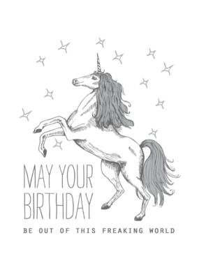 The Good Days Print Co. Unicorn Birthday Card