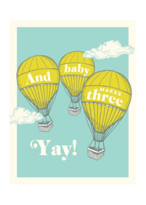 The Good Days Print Co. And Baby Makes Three Card