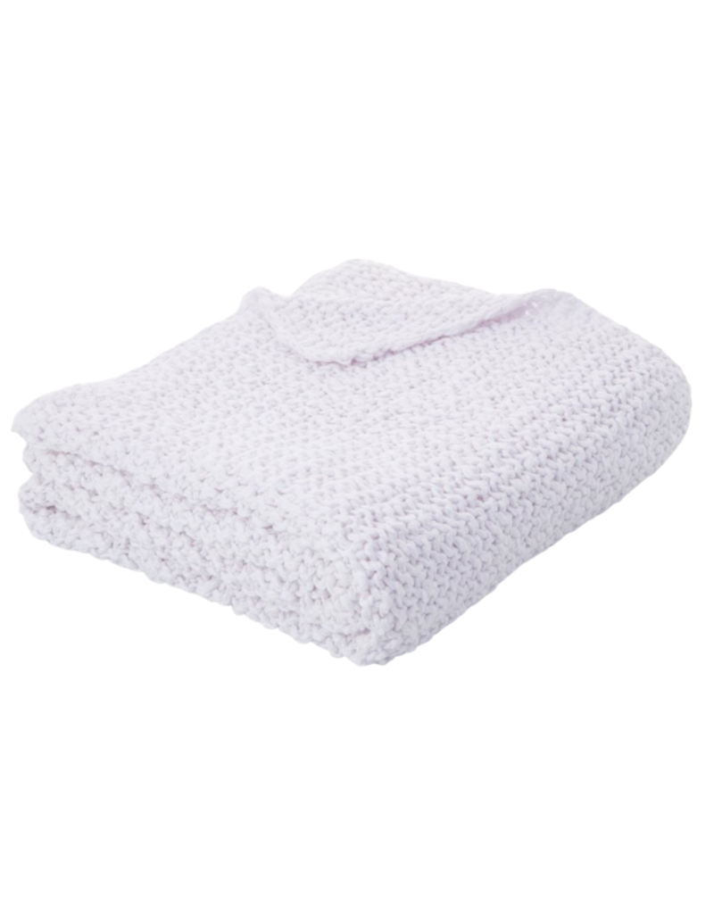 Chunky White Knit Throw