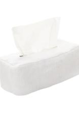 White Linen Tissue Box Cover