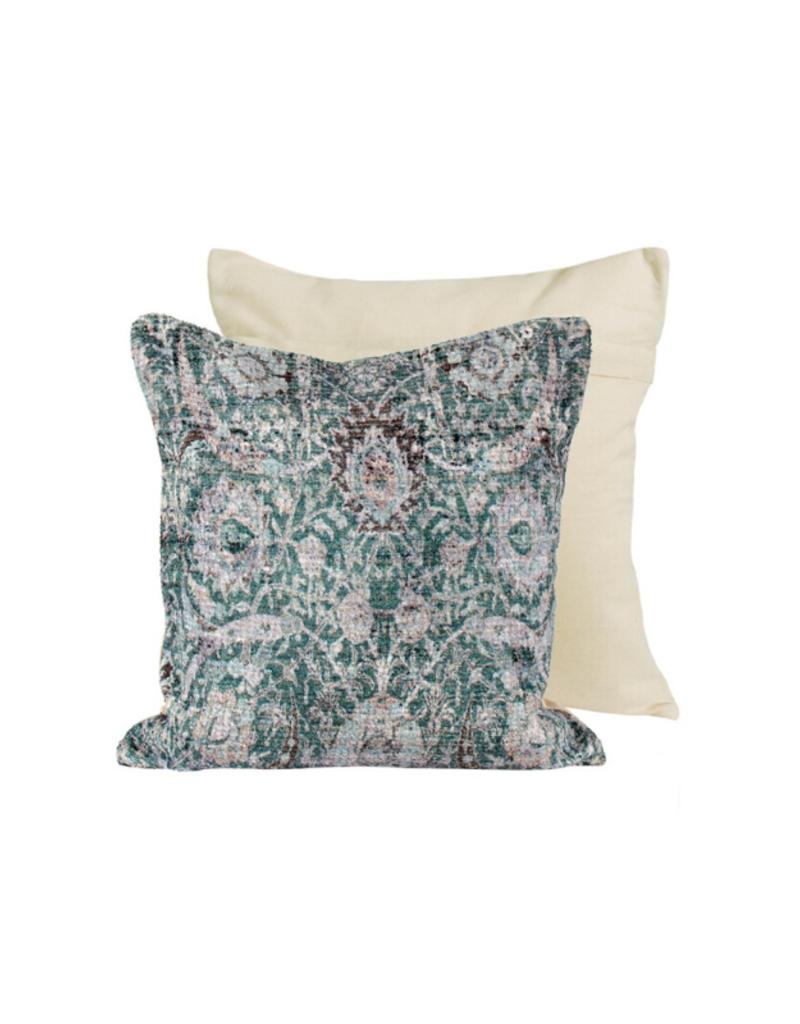 Future Chenille Green Pillow