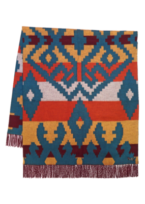 Fraas Navajo Cashmink Throw Rust