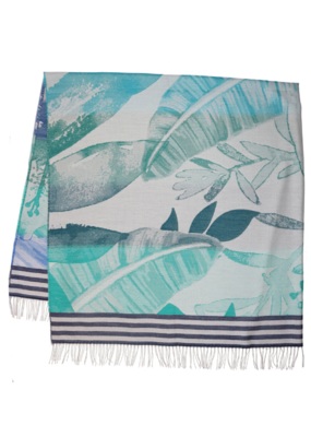 Fraas Throw Palms Peacock