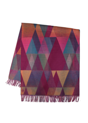 Fraas CashminkThrow Grad Triangles Berry