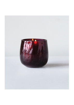 Burgundy Mercury Glass Tealight Holder