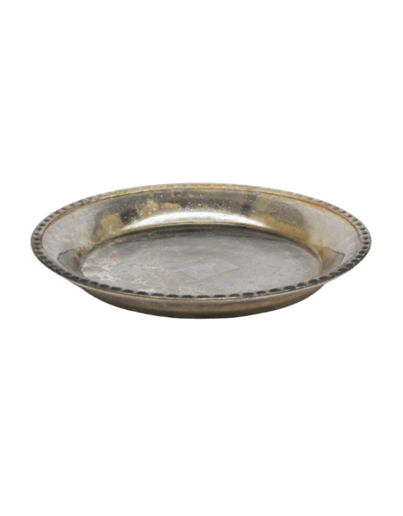 Silver Glass Plate