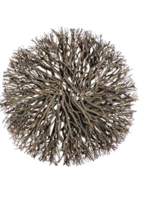 "30"" Root Wreath Natural Brown"