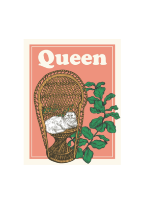 The Good Days Print Co. Queen Card