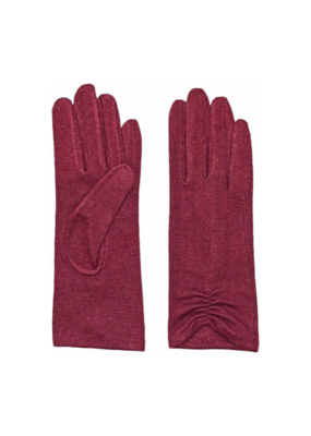 Fraas Gloves Solid Knit Tech Bordeaux